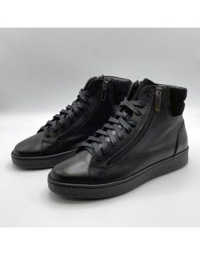 Sneakers alta Black Zip with Camo