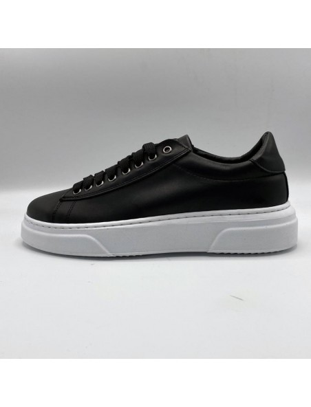 sneakers A hp black white pelle